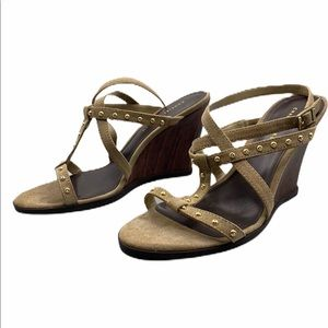 Charles & Keith Sling back wedges size 8